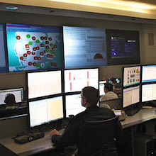 Photograph Of A Security Control Room